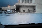 Eccezionale nevicata a Messina Centrale