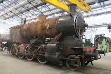 La locomotiva 740 244 nel Deposito Rotabili Storici di Pistoia
