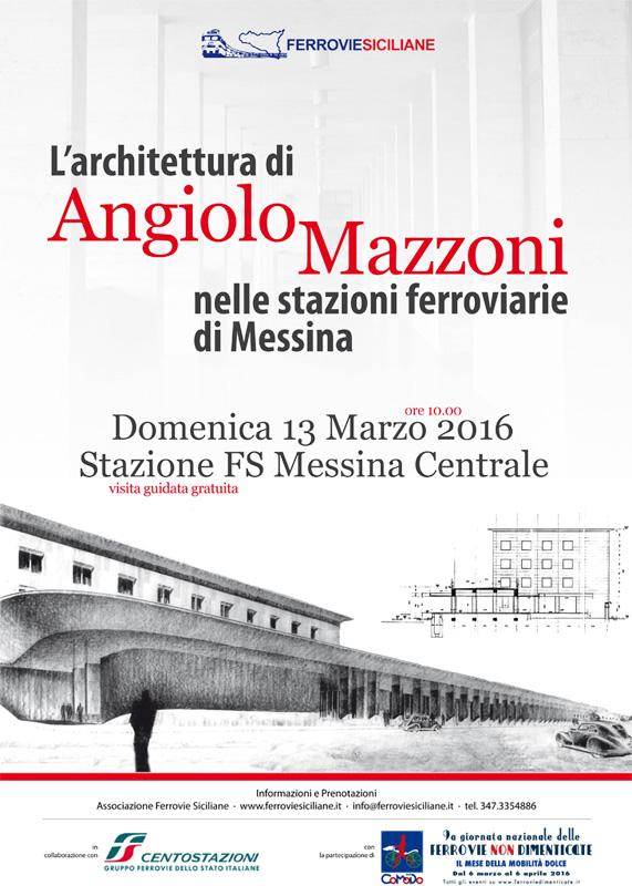 Angiolo Mazzoni, futurismo, stazione, Messina, associazione ferrovie siciliane