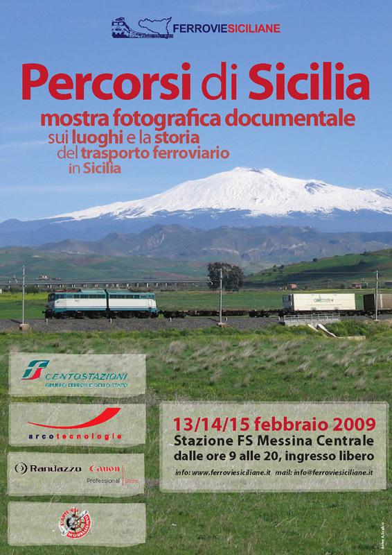"""""""Percorsi di Sicilia"""" mostra fotografica documentale sui luoghi e la storia del trasporto ferroviario in Sicilia (3ª edizione)"""