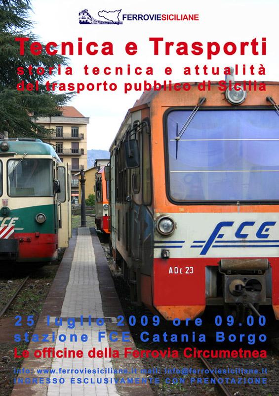 Le officine della Ferrovia Circumetnea