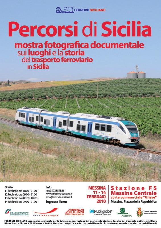 """""""Percorsi di Sicilia"""" mostra fotografica documentale sui luoghi e la storia del trasporto ferroviario in Sicilia (4ª edizione)"""