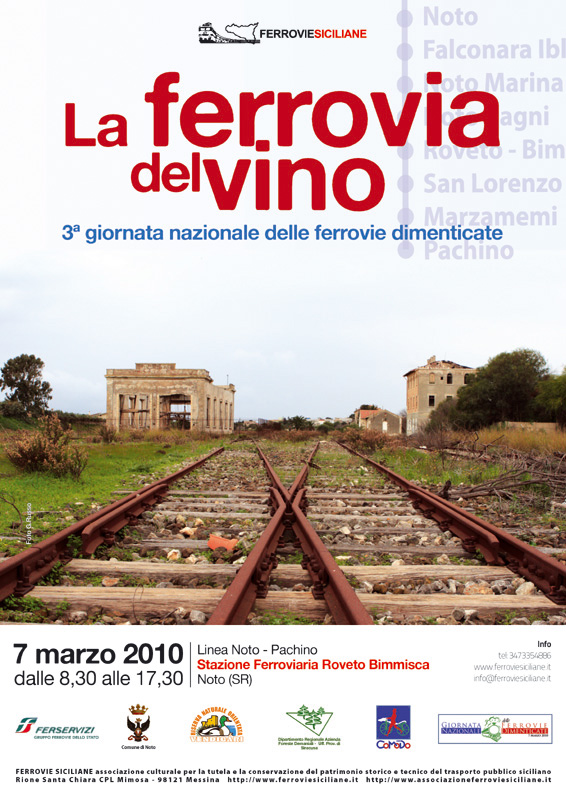 """""""La ferrovia del vino"""" 3ª giornata nazionale delle ferrovie dimenticate"""
