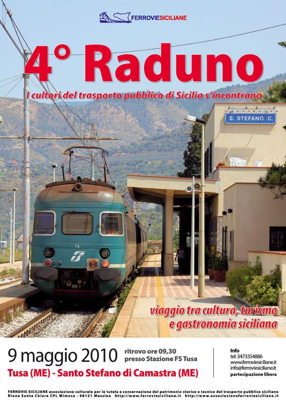 """""""Ferrovie Siciliane"""" il 4° raduno a Tusa e Santo Stefano di Camastra"""