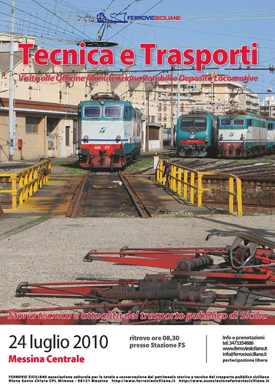"""Visita al """"Deposito Locomotive"""" e alle """"Officine Manutenzione Rotabili"""" di Messina"""