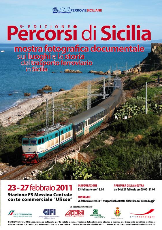 """""""Percorsi di Sicilia"""" mostra fotografica documentale sui luoghi e la storia del trasporto ferroviario in Sicilia (5ª edizione)"""