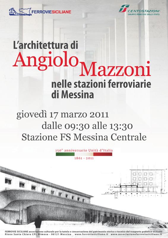150 anni dell'Unità d'Italia: L'architettura di Angiolo Mazzoni nelle stazioni ferroviarie di Messina