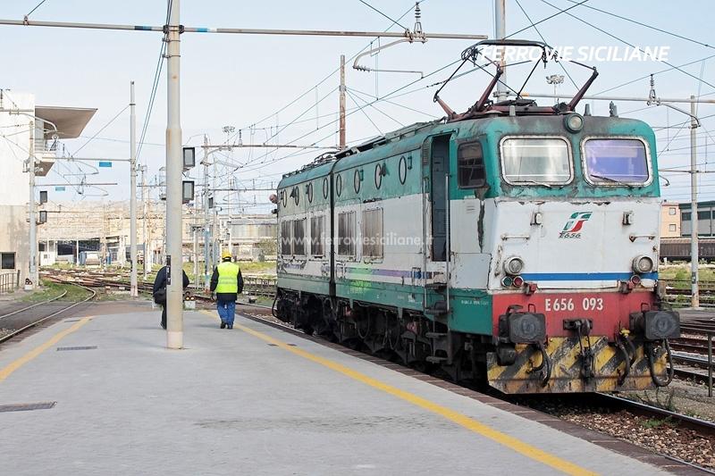 E656, le locomotive in Sicilia a febbraio 2019