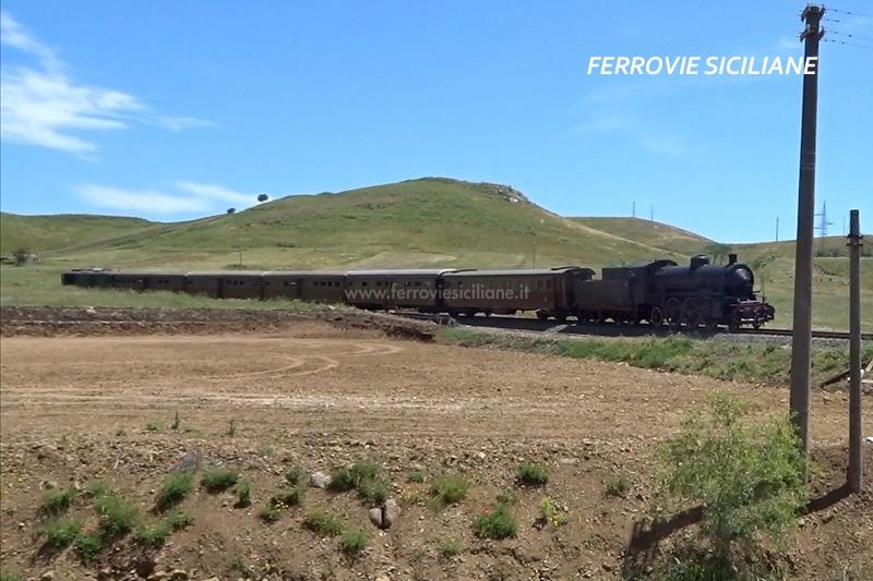Guasto alla locomotiva 685 089 durante la trasferta siciliana