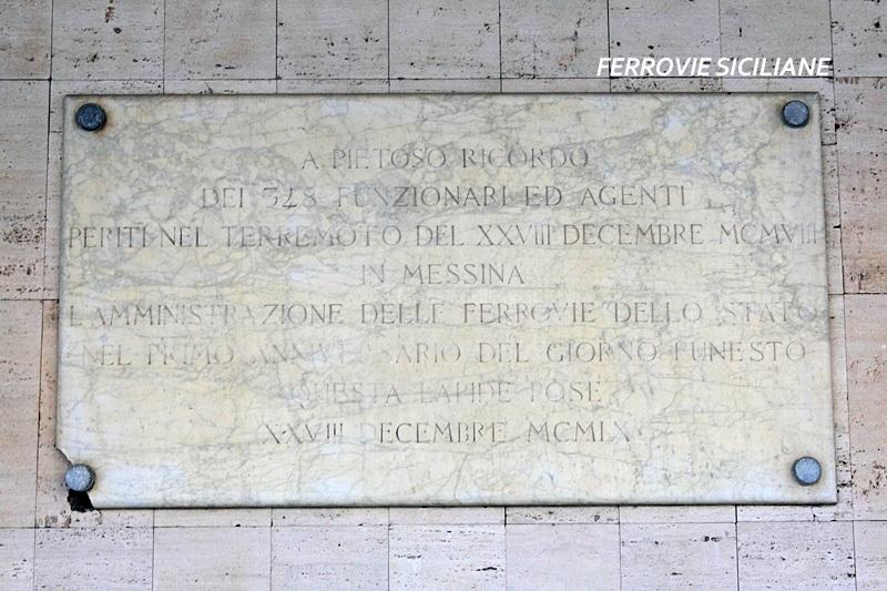 Il ricordo del terremoto del 1908 e la targa commemorativa a Messina Centrale